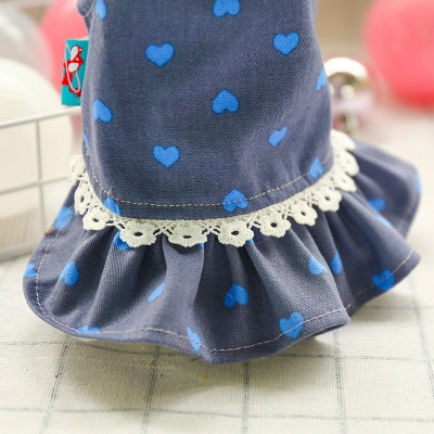 Cute Printed Lace Rufflles Puppy Skirts | Lovely Pets Cloth_5