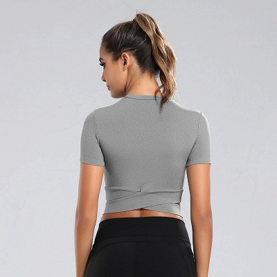 Workout Yoga Crop Tops Gym Exercise Clothes Crop Top Workout Muslce Shirts for Women_11