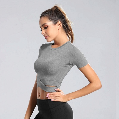 Workout Yoga Crop Tops Gym Exercise Clothes Crop Top Workout Muslce Shirts for Women_8