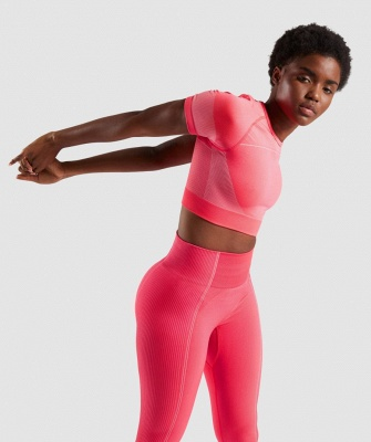 Women's Workout Outfit 2 Pieces Seamless Yoga Leggings with Sports Bra Gym Clothes Set_15