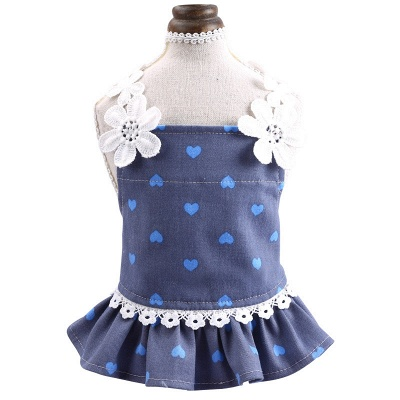 Cute Printed Lace Rufflles Puppy Skirts | Lovely Pets Cloth_3