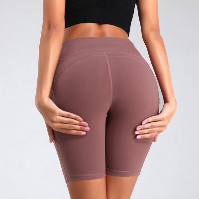 Yoga Gym Running Biker Athletic Booty Short Pants Indoor Exercise Supplies_7
