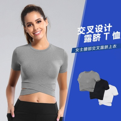 Workout Yoga Crop Tops Gym Exercise Clothes Crop Top Workout Muslce Shirts for Women_9