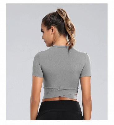 Workout Yoga Crop Tops Gym Exercise Clothes Crop Top Workout Muslce Shirts for Women_26