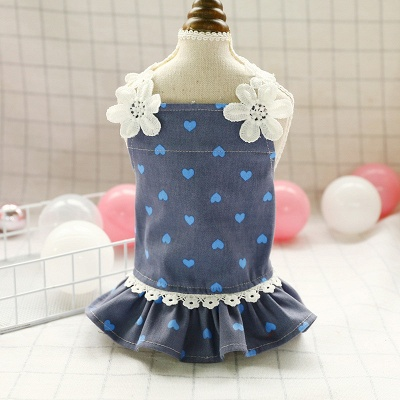 Cute Printed Lace Rufflles Puppy Skirts | Lovely Pets Cloth_2