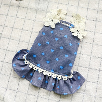 Cute Printed Lace Rufflles Puppy Skirts | Lovely Pets Cloth_4