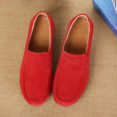 Women's Classic Genuine Leather Penny Loafers Driving Moccasins Casual Slip On Boat Shoes