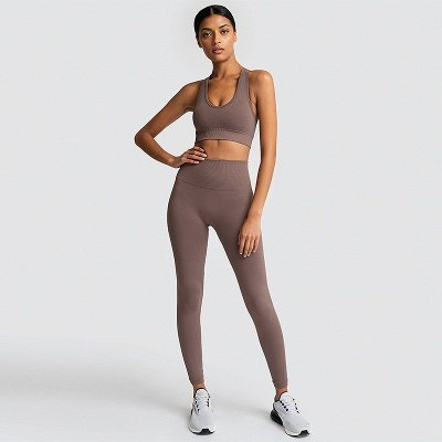 Fashion High Waist Leggings Women Fitness Overall Full Tights Running Yoga Suits_2
