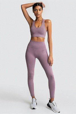 Fashion High Waist Leggings Women Fitness Overall Full Tights Running Yoga Suits_12