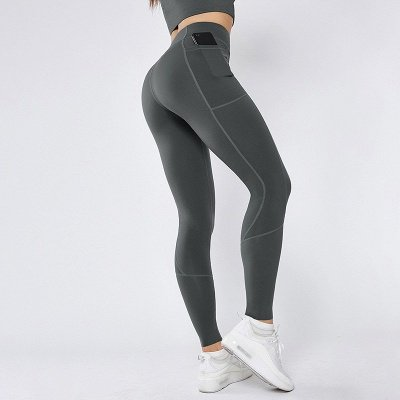 Solid Color High Waist Yoga Pants Sports Legging | Women Full Tights Sports Wear