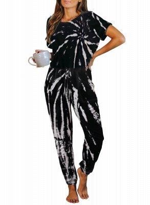 Elegant Summer Short-sleeves Round Neck Homewear Online_4