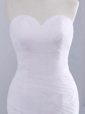 Trägerlose Schatz Meerjungfrau Brautkleider | Spitze Rüschen Tüll Brautkleider_3