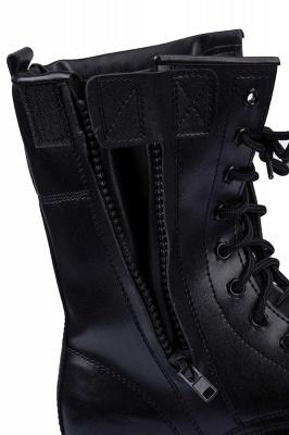 Мужские тактические военные ботинки Черные легкие ботинки для джунглей Рабочие ботинки Боковая молния_8