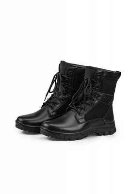 Men's Military Motorcycle Tactical Combat Boots Lace-up Boot_1