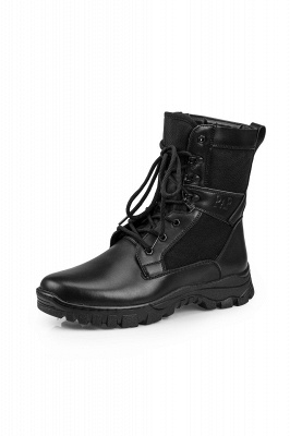 Men's Military Motorcycle Tactical Combat Boots Lace-up Boot_2