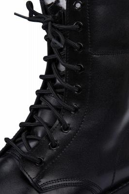 Мужские тактические военные ботинки Черные легкие ботинки для джунглей Рабочие ботинки Боковая молния_5