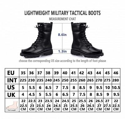 Мужские тактические военные ботинки Черные легкие ботинки для джунглей Рабочие ботинки Боковая молния_10