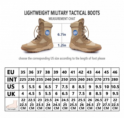 Men's Military Combat Boots Lightweight Military and Tactical Boot_9