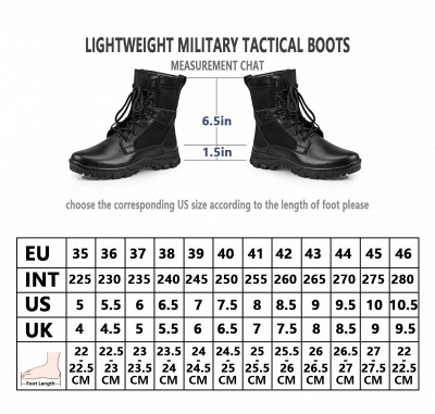 Men's Military Motorcycle Tactical Combat Boots Lace-up Boot_5