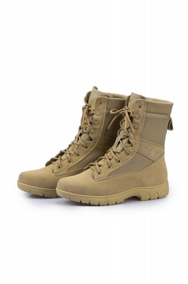 Men's Military Tactical Work Boots Tactical Combat Boots with Coolmax Lining_2