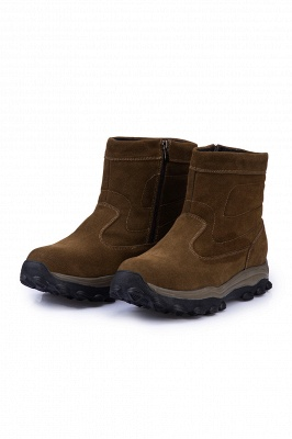 Mens Lightweight Tactical Boot Leather Backpacking Boots Brown_8