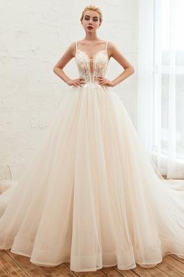 Boho Бальное платье цвета слоновой кости с бретельками свадебное платье   Романтические свадебные платья на продажу_3