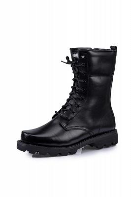 Мужские тактические военные ботинки Черные легкие ботинки для джунглей Рабочие ботинки Боковая молния_2