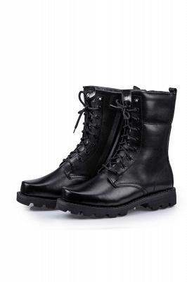 Men's Tactical Military Boots Black Lightweight Jungle Boots Work Boots Side Zipper