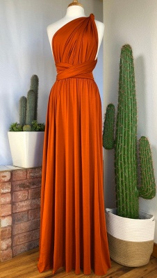 Halter V-Neck Chiffon Slim Bridesmaid Dress Simple Style Maid of Honor Dress_6