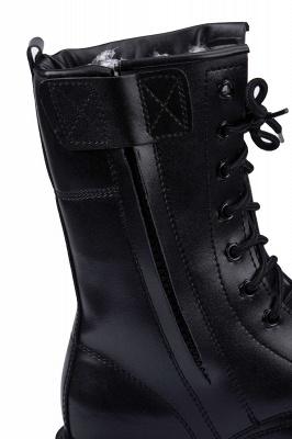 Мужские тактические военные ботинки Черные легкие ботинки для джунглей Рабочие ботинки Боковая молния_7
