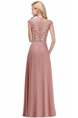 Cap Sleeve Lace Appliques Beads Slim A-line Evening Prom Dress for Women_1