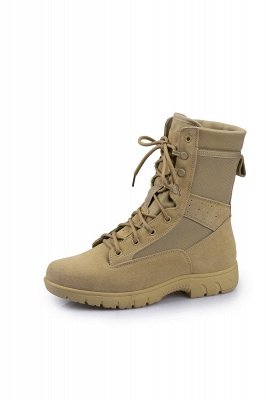Men's Military Tactical Work Boots Tactical Combat Boots with Coolmax Lining_1