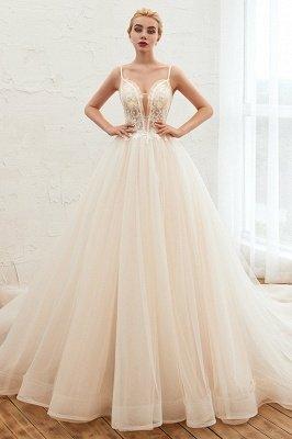 Vestido de novia marfil con tirantes finos boho | Vestidos de novia románticos en venta_3
