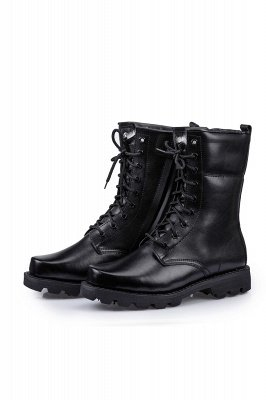Men's Tactical Military Boots Black Lightweight Jungle Boots Work Boots Side Zipper