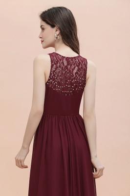 V-образным вырезом трапециевидной формы шифоновое вечернее платье макси без рукавов свадебное платье для гостей невесты_11