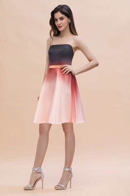 Sleeveless Gradient Satin Evening Prom Mini Dress Elegant Sweetheart Daily Dress_4