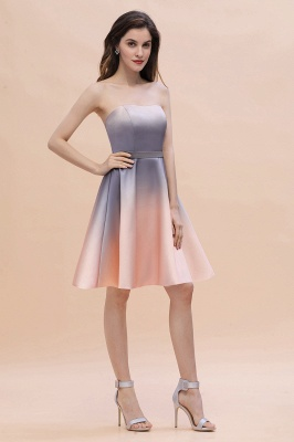 Charming Sweetheart Gradient A-Linie Short Evening Party Kleid_9