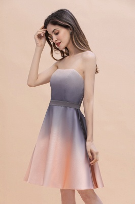 Charming Sweetheart Gradient A-Linie Short Evening Party Kleid_7