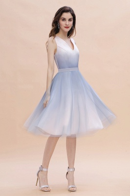 Elegantes V-Ausschnitt Gradient A-Linie Mini Abendparty Kleid Homecoming Kleid