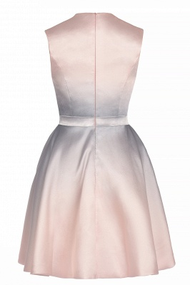 Elegant Gradient A-line Daily Casual Mini Dress Sleeveless Evening Party Dress_11