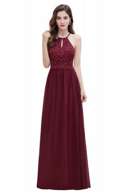 Robe de soirée trapèze licou en mousseline de soie robe longue de soirée élégante_1