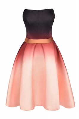 Sleeveless Gradient Satin Evening Prom Mini Dress Elegant Sweetheart Daily Dress_7