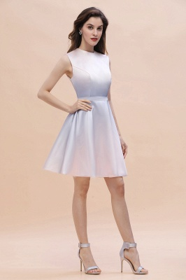 Elegant Gradient A-line Daily Casual Mini Dress Sleeveless Evening Party Dress_5