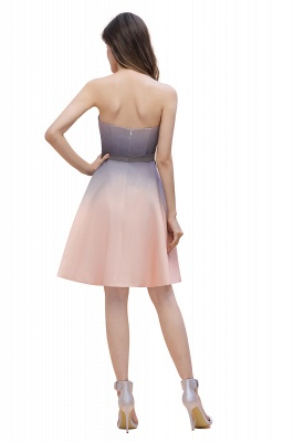 Charming Sweetheart Gradient A-Linie Short Evening Party Kleid_5
