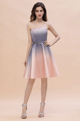 Charming Sweetheart Gradient A-Linie Short Evening Party Kleid