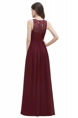 V-образным вырезом трапециевидной формы шифоновое вечернее платье макси без рукавов свадебное платье для гостей невесты_17