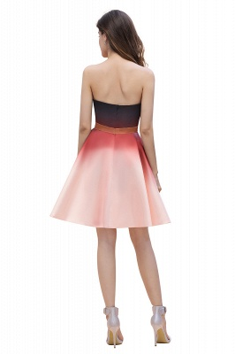Sleeveless Gradient Satin Evening Prom Mini Dress Elegant Sweetheart Daily Dress_3