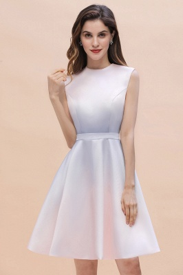 Elegant Gradient A-line Daily Casual Mini Dress Sleeveless Evening Party Dress_4