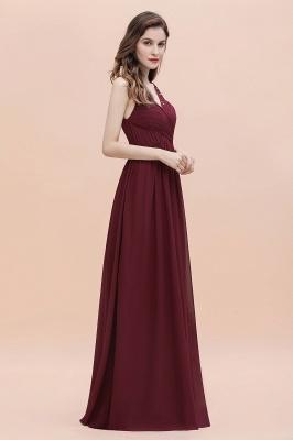 V-образным вырезом трапециевидной формы шифоновое вечернее платье макси без рукавов свадебное платье для гостей невесты_6