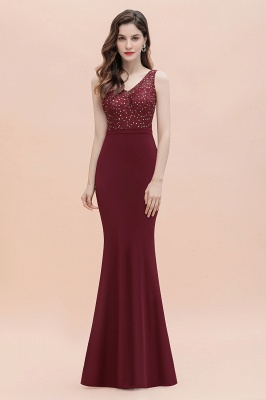V-Neck Mermaid Evening Dress Sequins Chiffon Slim Party Dress